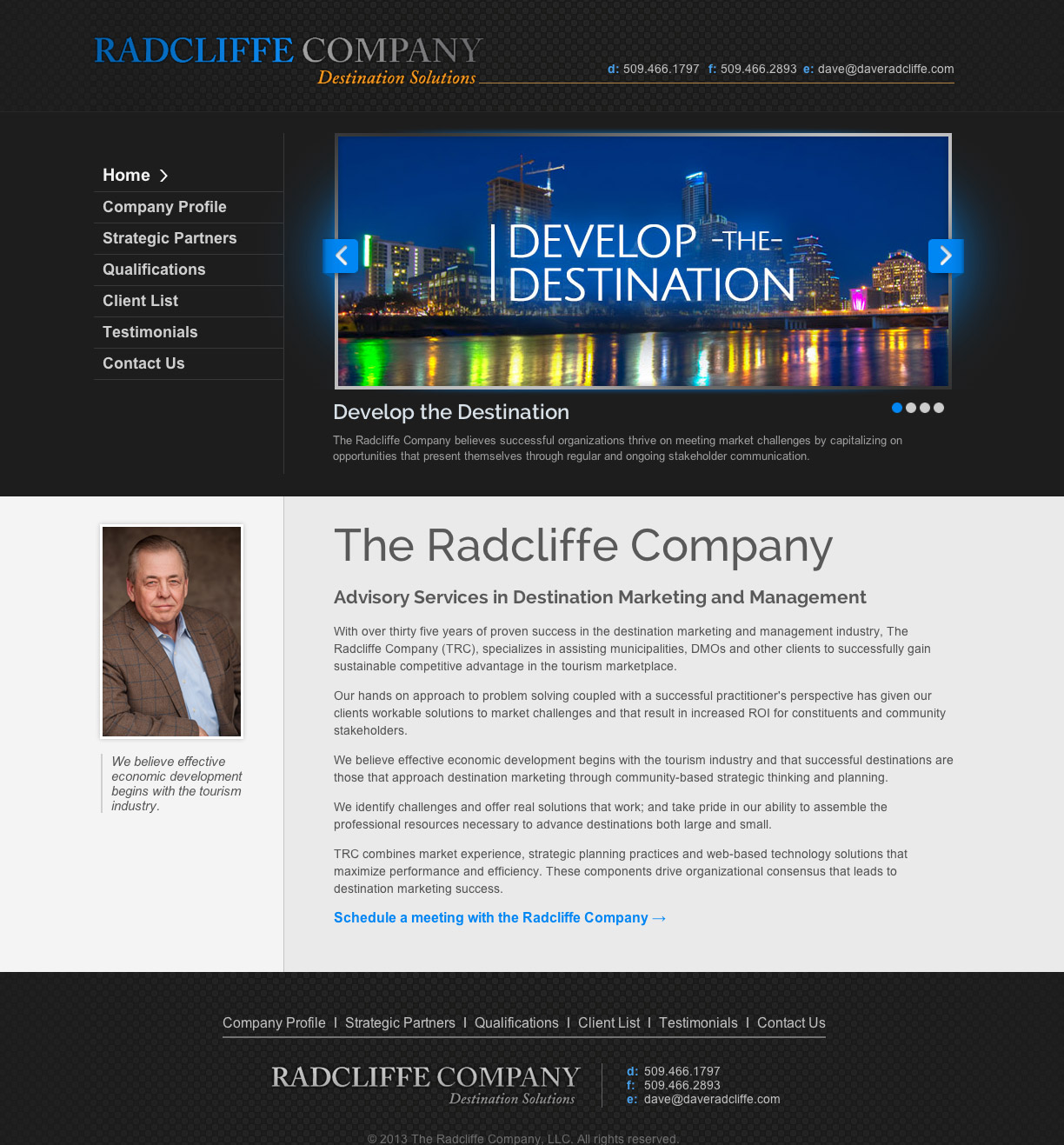 Dave Radcliffe website development & design