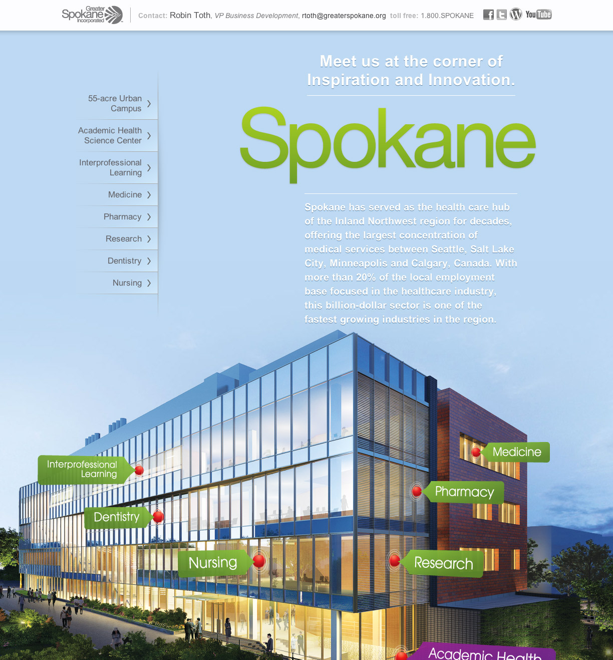 iSpokane.com website development & design.